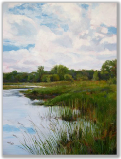 Painting of a riparian scene