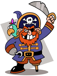 clip art of a cartoon pirate