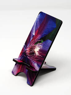 Phone Stand wiht purple clematis