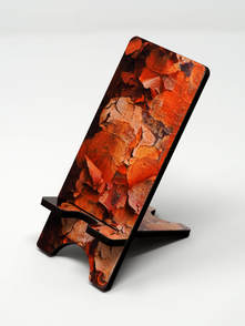 Phone stand showing paperbark maple
