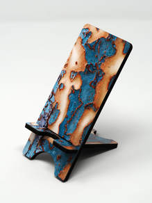 Phone stand showing Chinese Elm tree bark