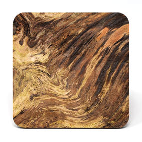 Coaster showing tree trunk patterns